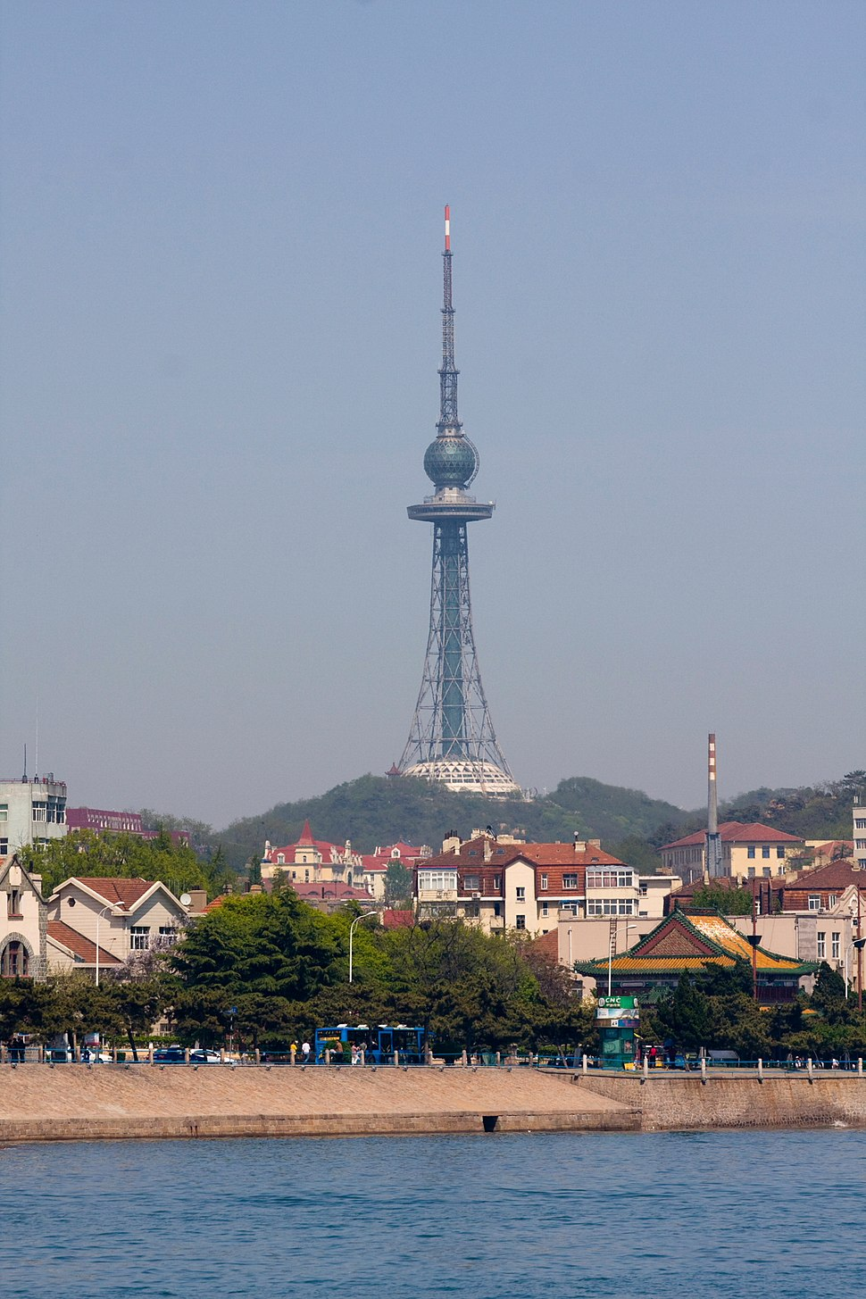 Views of Qingdao tower