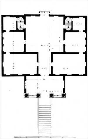 Villa Chiericati - Plan of Villa Chiericati.