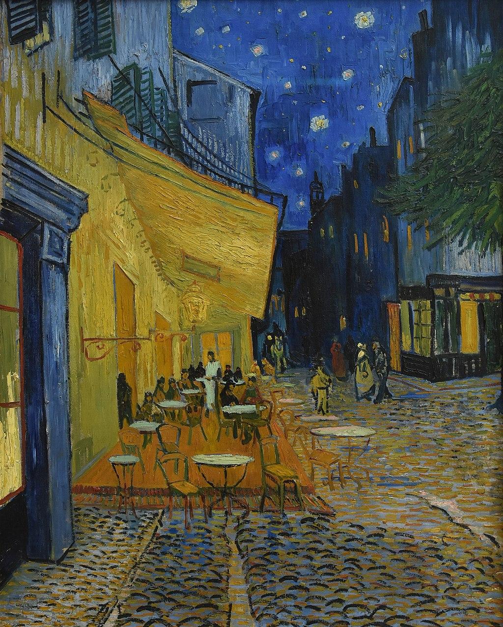 Vincent van Gogh (1853-1890) Caféterras bij nacht (place du Forum) Kröller-Müller Museum Otterlo 23-8-2016 13-35-40