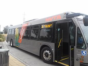 VINE Transit - VINE Transit bus on Route 21 in 2016