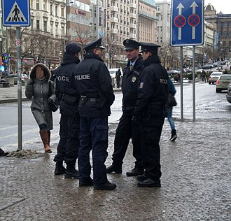 Police of the Czech Republic - Police officers in Prague