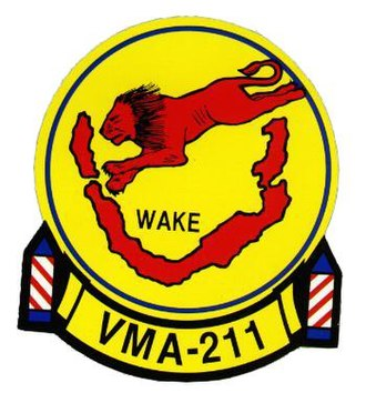 Battle of Wake Island - VMA-211 Insignia.