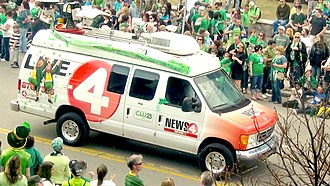WIVB-TV - A WIVB-TV truck driving through the streets of the 2012 St. Patrick's Day parade in Buffalo, New York.