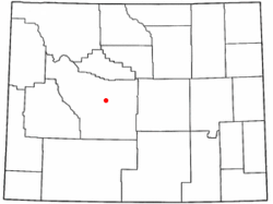 Location of Arapahoe, Wyoming
