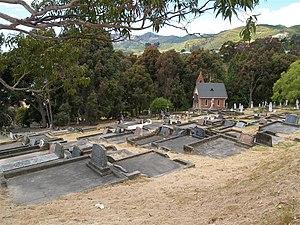 Wakapuaka Cemetery - The Garin Memorial Chapel and many graves