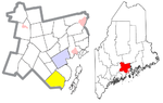 Waldo County Maine Incorporated Areas Lincolnville Highlighted.png
