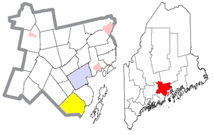 Lincolnville, Maine - Image: Waldo County Maine Incorporated Areas Lincolnville Highlighted