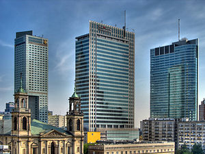 Warsaw Downtown skyline