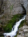 Waterfall, Zasele mountains, Sofia province, Bulgaria, 2011.JPG