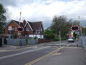Watford North railway station - Image: Watford North stn level crossing look northwest