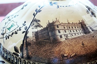 Frog Service - Detail of tureen with view of Longford Castle, Hermitage Museum