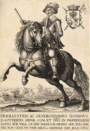 Wenceslas Hollar - Count Pappenheim (State 2)