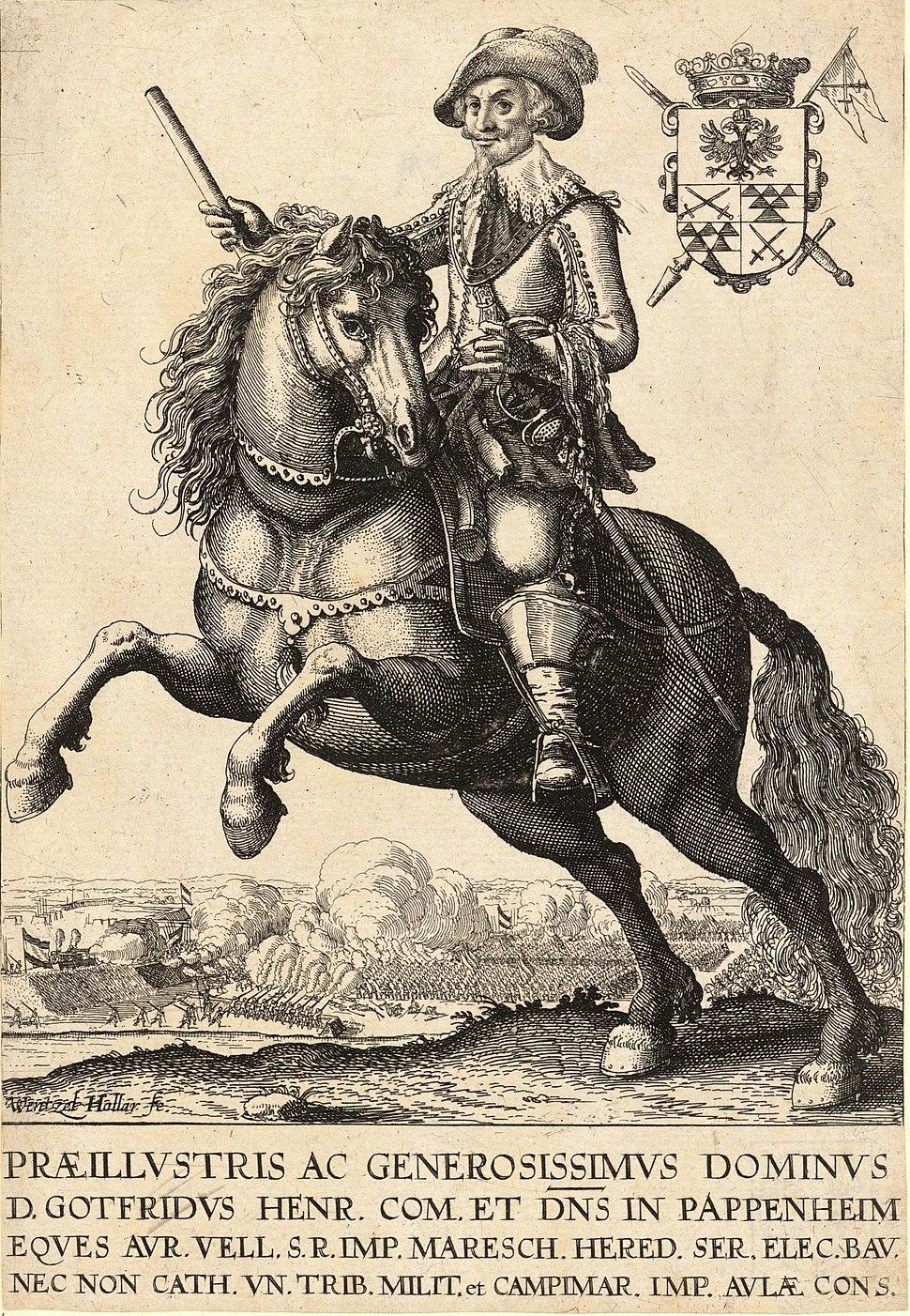 Wenceslas Hollar - Count Pappenheim (State 2)