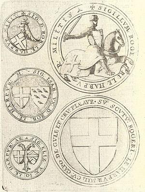 Calke Abbey - Seals of the Le Harpur family by Wenceslas Hollar