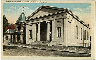 First Presbyterian Church of West Chester - Image: West Chester PA 1st Presby PHS637
