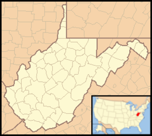 Lost River (Cacapon River) - Image: West Virginia Locator Map with US