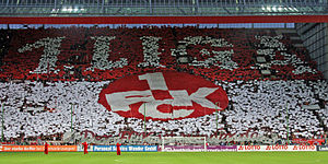 1. FC Kaiserslautern - Fans celebrating the club's promotion right before the first Bundesliga home game in four years, which was held against rivals Bayern Munich.