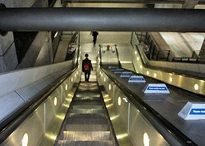 Westminster escalators