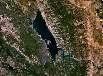 Lake Berryessa - Satellite photo