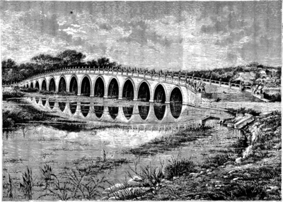White Marble Bridge near Pekin (China's Spiritual Need and Claims, 1887).png