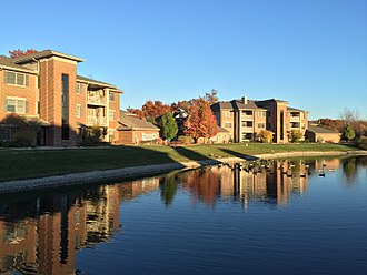 Munster, Indiana - White Oak Woods condominium complex is located right off the Pennsy Greenway trail.