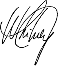 Signature de Whitney Houston