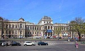 Wien Universitet: hovedbygningen set fra Ringstraße