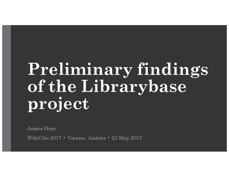 File:WikiCite 2017 presentation on Librarybase.pdf