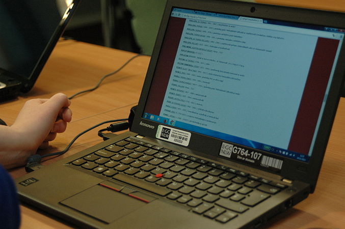Wikidata Edit-a-thon at National Library of Wales 07.jpg