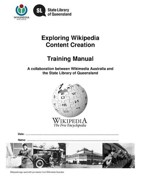 File:Wikipedia Training Manual.pdf - Wikiwand