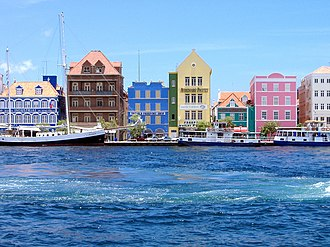 Curaçao - Dutch architecture along Willemstad's harbour