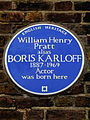 William Henry Pratt alias BORIS KARLOFF 1887-1969 Actor was born here.jpg