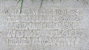William R. Higgins - Headstone detail