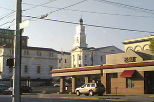 Winchester, Kentucky - Clark County Court House as viewed from Kentucky Route 627