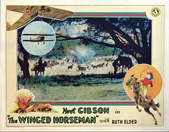Hoot Gibson - Lobby card for Gibson's 1929 film, The Winged Horseman