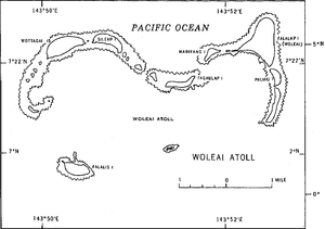 Woleai - Map of Woleai