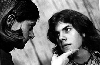 Corner Theatre ETC - Bridget Bentele with Brad Mays in a scene from Wolves, written by Gordon Porterfield and directed by C. Richard Gillespie at the Corner Theatre ETC in April 1973.