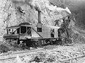 Workers operating steam shovel along Alaska Railroad line near Moose Creek, Alaska, circa 1916 (AL+CA 5456).jpg