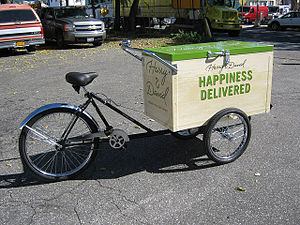 Delivery (commerce) - Delivery tricycle