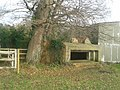 World War II field artillery emplacement, west end of Waverley Mill Bridge 03.jpg