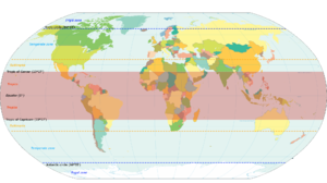 Temperate climate - The different geographical zones