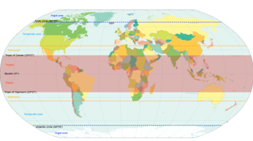 Tropic Of Capricorn On World Map.Tropics Travel Guide At Wikivoyage