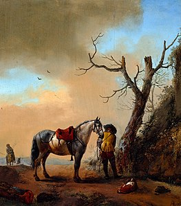 Wouwerman Soldier and his horse.jpg