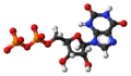 Xanthosine diphosphate anion ball.png