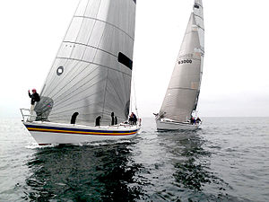 Keelboat - A yacht race in California
