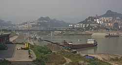 The Yangtze River / Three Gorges reservoir at Wanzhou City