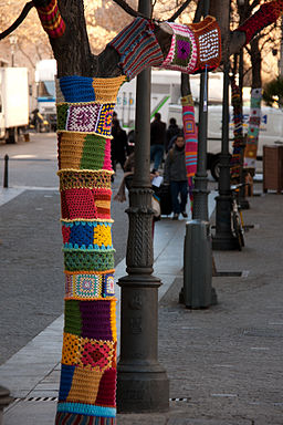 Yarn Bombing Madrid 1