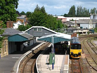 Yeovil Pen Mill railway station - A train to Weymouth