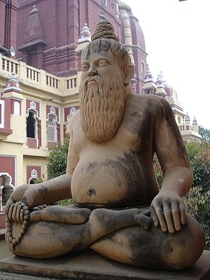 Naked yoga - Sculpture of Hindu yogi, Delhi