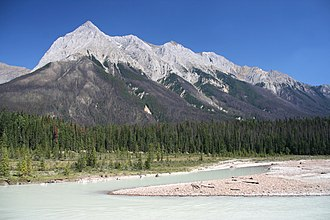 Kicking Horse River - Kicking Horse River at the feet of Chancellor Peak
